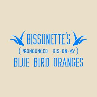 Blue Bird Oranges (Clean) t-shirts