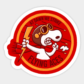 3b31d4cb0259 Flying Aces Sticker. by victorcalahan.  2.50. Main Tag Snoopy Stickers