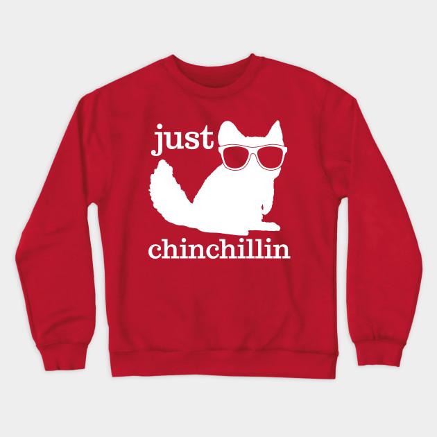 Chinchillin Chinchilla Red Adult Sweatshirt