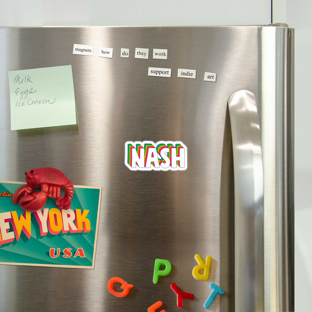 Hello My Name Is Nash Rainbow Name Tag - Nash - Magnes ...