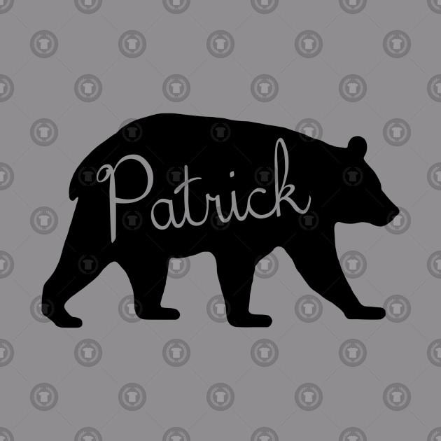 Patrick Bear Spirit Animal Silhouette Personalized Name