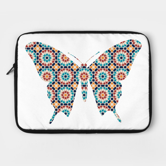Butterfly Silhouette with Pattern