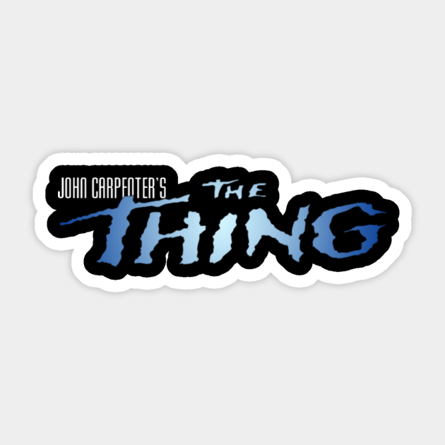 The Thing Thing Sticker Teepublic