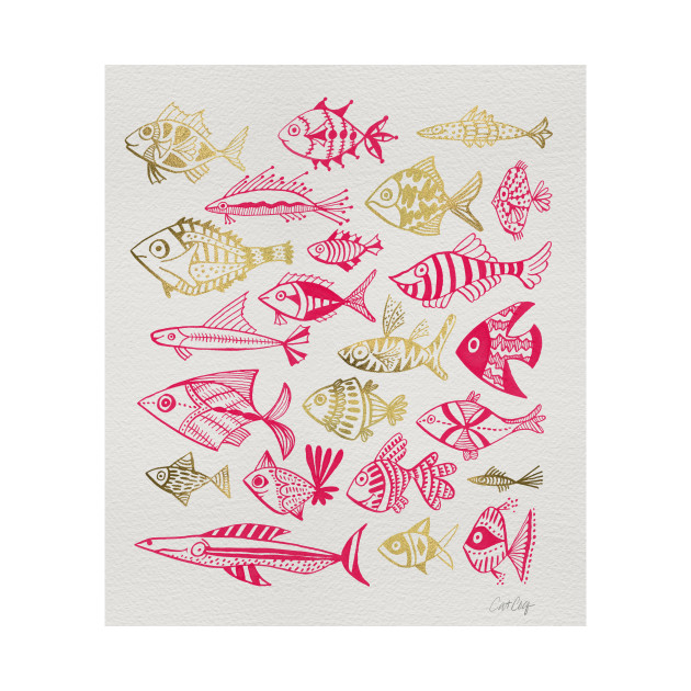 fish inkings pink maroon