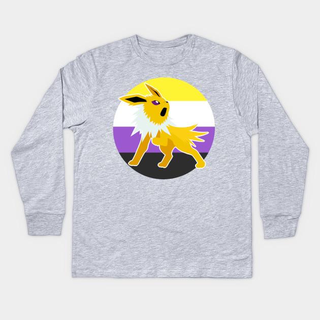 4cc89bcd Jolteon Nonbinary Pride LGBT - Pokemon - Kids Long Sleeve T-Shirt ...
