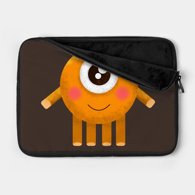 cute monster orange