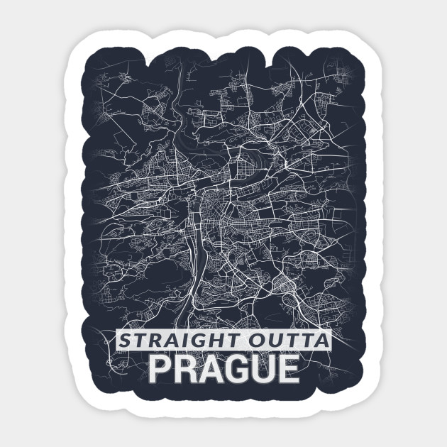 Straight Outta Prague centre Czech Republic Praha City Map