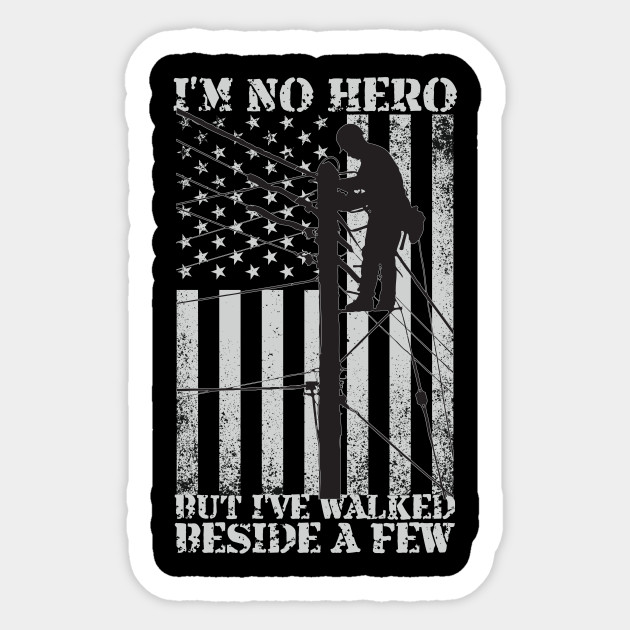 American Flag Electrical Power Lineman