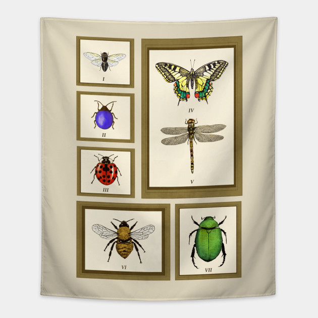 Framed Bugs - Insects - Tapestry | TeePublic