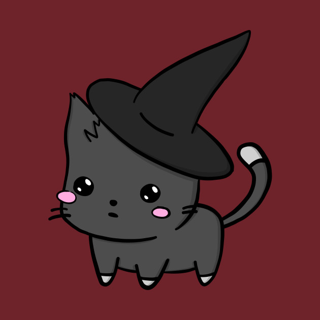 Cute Cat With Witch Hat
