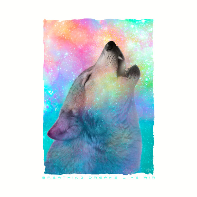 Breathing Dreams Like Air (Wolf Howl Abstract)
