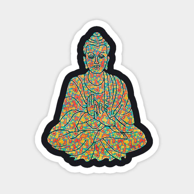 Psychedelic Buddha Spiritual Trippy Graphic Buddhist Image T Shirt