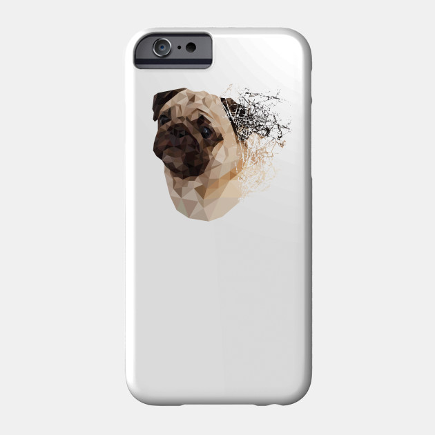 2b6fbfd8bd03 Pug Shattered Designer T-Shirt for Dog Lovers - Pugs - Phone Case ...