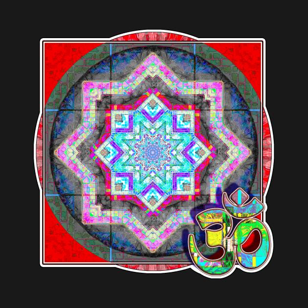 Disk Mandala Green Om