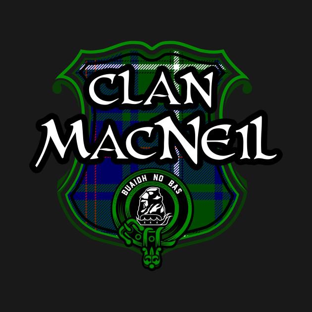 Clan MacNeil Surname Scottish Clan Tartan Crest Badge