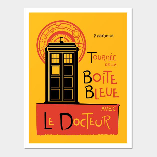 La Boîte Bleue - Doctor Who - Wall Art   TeePublic