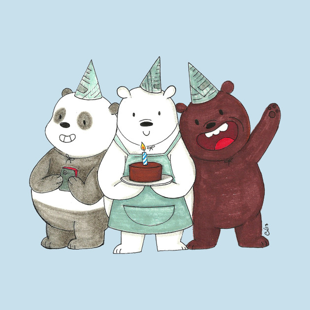 We Bare Bears Happy Birthday We Bare Bears Throw