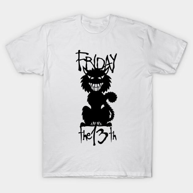 Friday The 13th Devil Cat Black Villain Tshirt Cat Black Friday T Shirt Teepublic