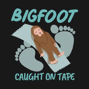 Bigfoot Caught on Tape Shirt Funny Bigfoot Gifts t-shirts