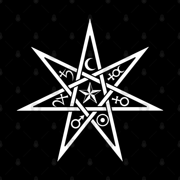 Seven Pointed Alchemy Star