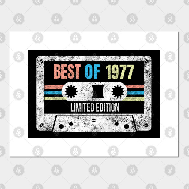 Best Of 1977 Limited Edition Vintage Cassette 43rd Birthday