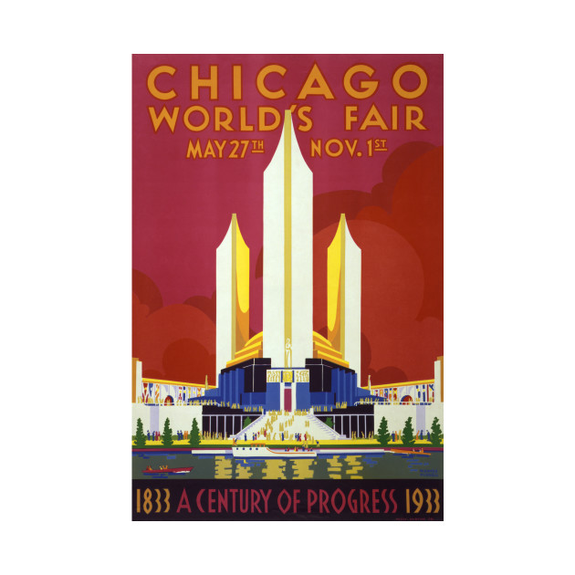 Vintage Travel Poster USA Chicago World's Fair 1933