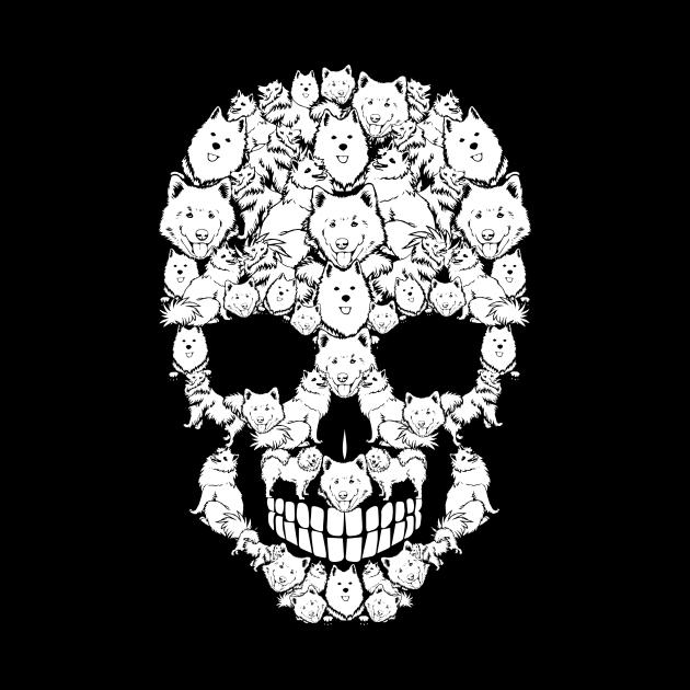 American Eskimo Dog Skull Funny Halloween Costume Family