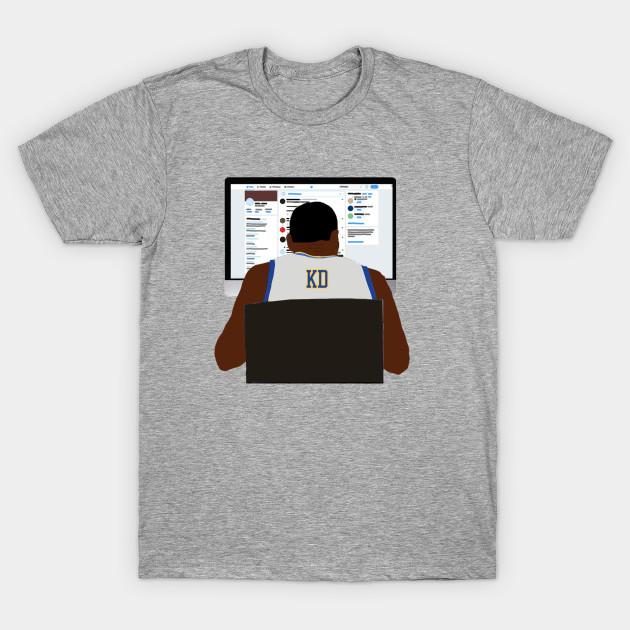 KD Twitter Fingers TEe - Kevin Durant - T-Shirt  TeePublic