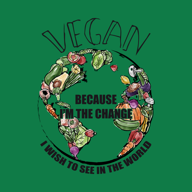 Vegan The Change I Wish To See In World