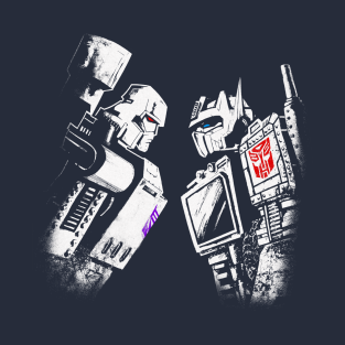 Optimus Vs. Megatron highlight colors t-shirts