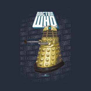 DALEK Dr. Who's Minimalist Fine Art t-shirts