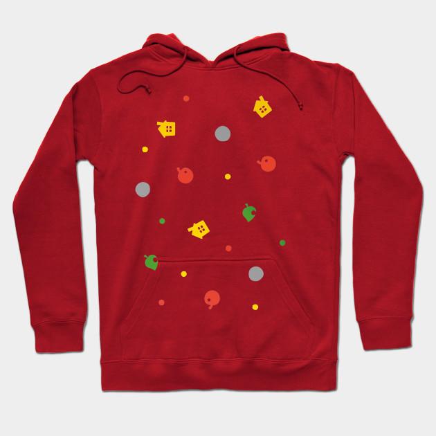 Animal crossing new leaf hoodie Clothes 168123 Cafepress Animal Crossing New Leaf 3ds Pattern Kawaii Hoodie Teepublic