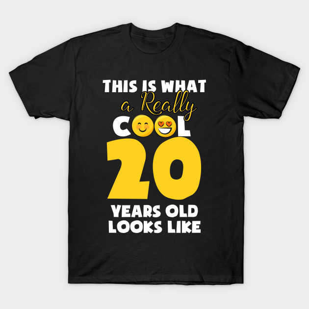 Kids Emojicon 20th Birthday Gifts 20 Year Old Girls T Shirt