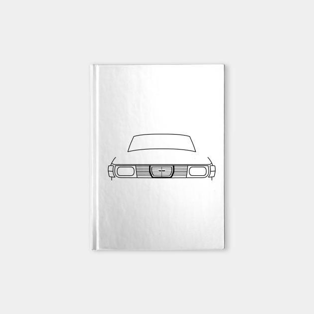 Saab 99 classic car outline graphic (black)