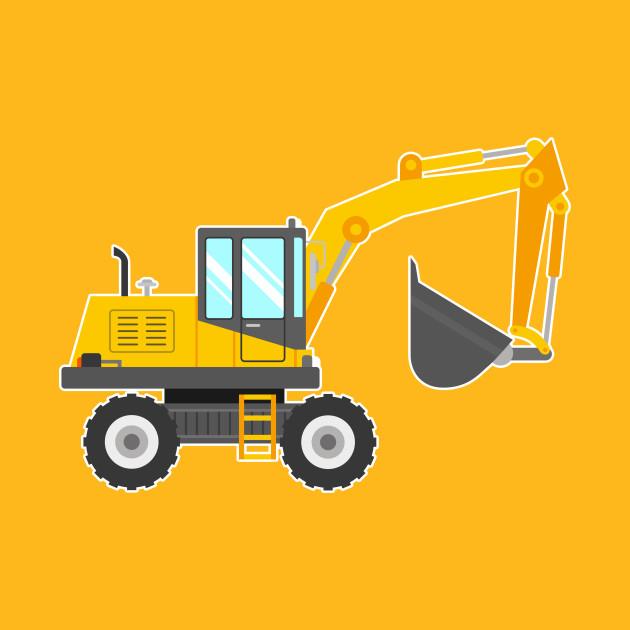 Cute Excavator for Kids