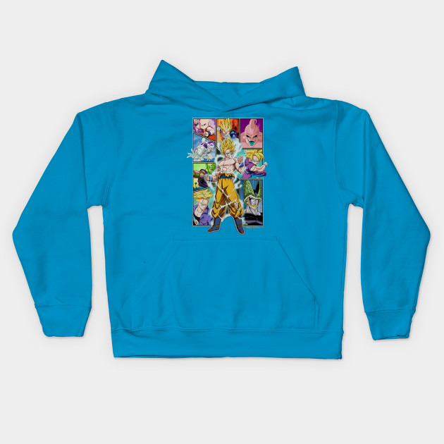 ece6b633 Ripple Junction Dragon Ball Z Character Frame Collage Adult T-Shirt Kids  Hoodie