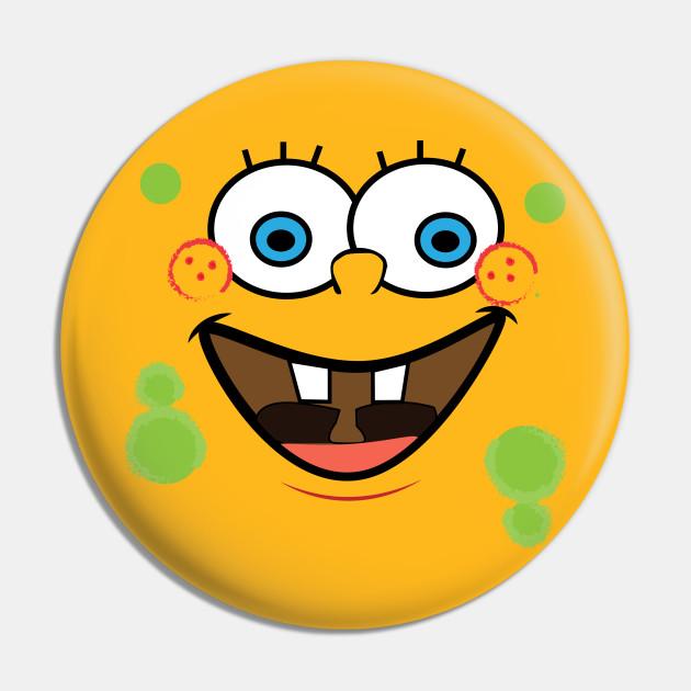 spongebob - SpongeBob Smiling Face Adult -SPONGE- BOB -PANTS - SQUARE-T-Shirt