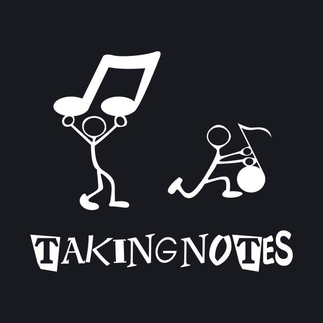 Taking Notes Funny Writing Musical Pun 3