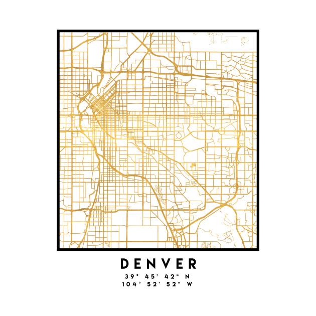 Colorado Map Art.Denver Colorado City Street Map Art Denver T Shirt Teepublic