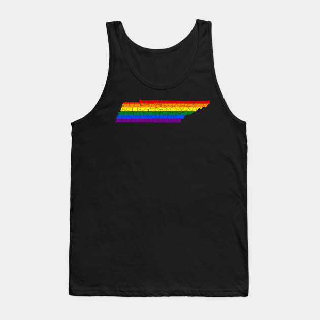 Gay Pride LGBT All Over Adult Tank Top
