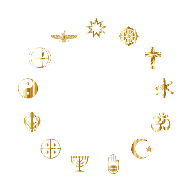 Limited Edition Exclusive World Religious Symbols Gold World