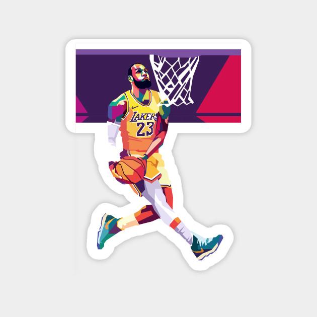 Lebron James Pop Art Lebron James Lakers Magnes Teepublic Pl