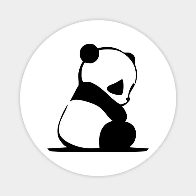Cute Cartoon Panda Panda Bear Magnet Teepublic Au