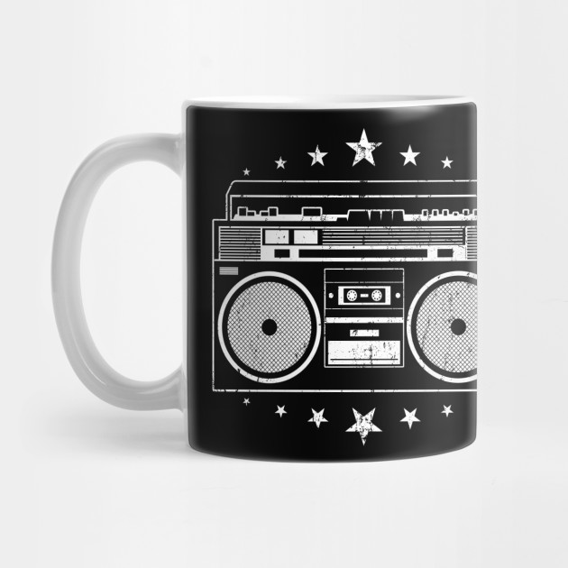 Old School Beats - Retro Hip Hop Boombox by martinemeeka