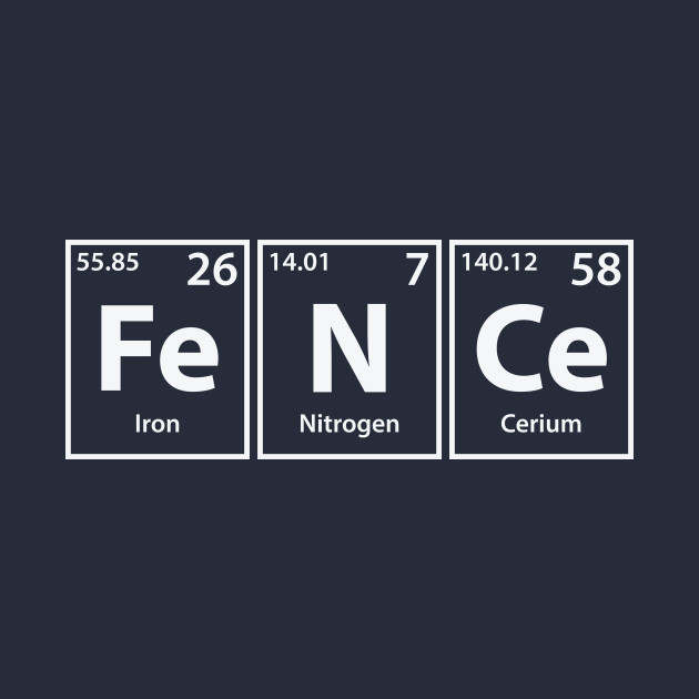 Fence (Fe-N-Ce) Periodic Elements Spelling