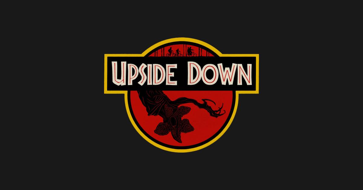 Upside Down Stranger Things T Shirt Teepublic