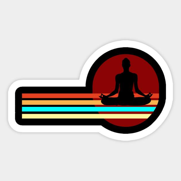 Meditation Buddhism Just Breathe Mindfulness Yoga Yoga Sticker Teepublic