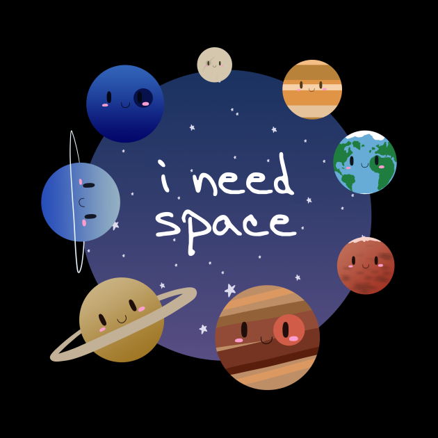 Cute Solar System - I Need Space