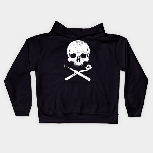 c87499a3d Skull & Crossbones – Clever Dentist Design - Dentist - Kids Hoodie ...