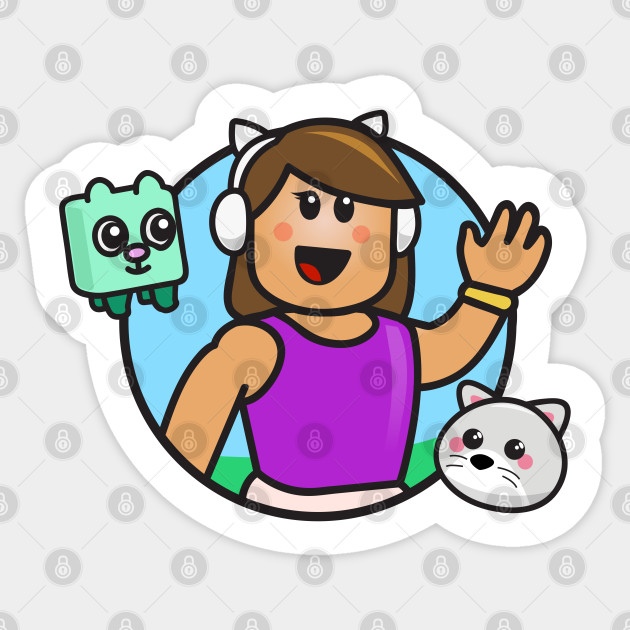 Roblox Get Eaten By A Girl Gamer Girl With Headphones And Pets Roblox Girl Sticker Teepublic